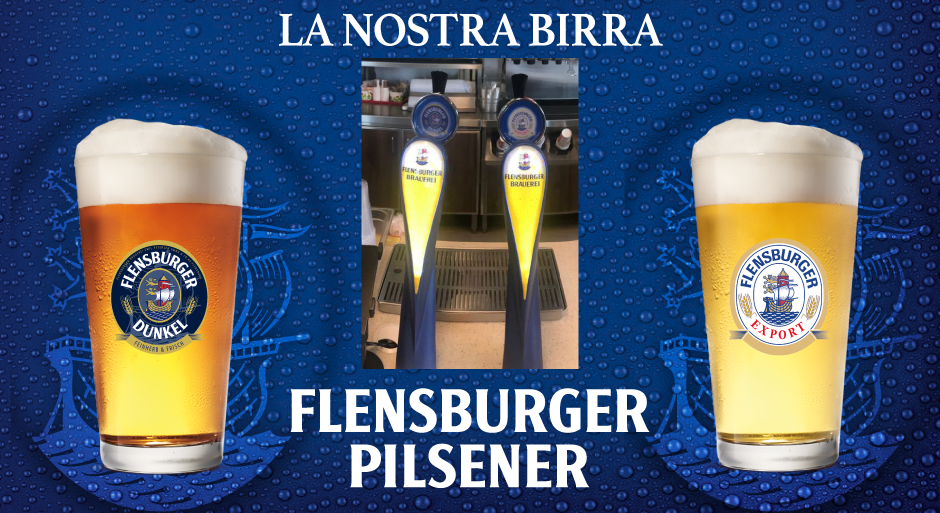 la nostra Birra Flensburger Pilsener Dunkel e Gold